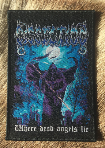 Dissection - Where Dead Angels Lie Black Border Patch