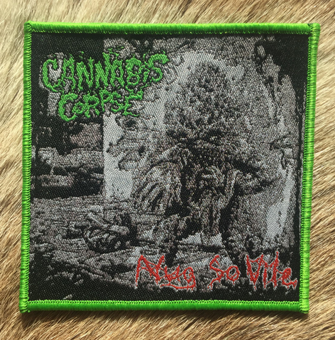 Cannabis Corpse - Nug So Vile Green Border Patch