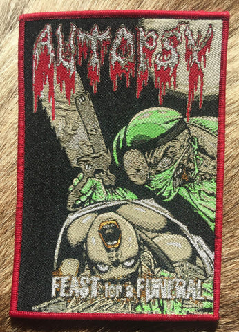 Autopsy - Feast For A Funeral Red Border Patch