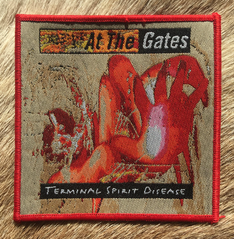 At the Gates - Terminal Spirit Disease Red Border Patch
