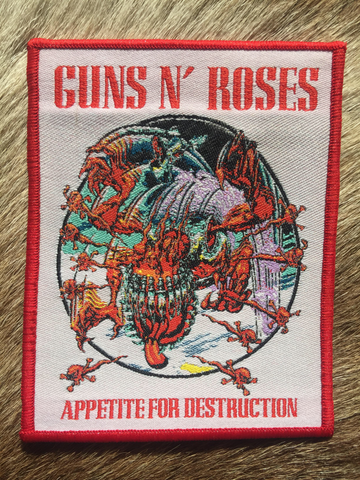 Guns N Roses - Appetite for Destruction Monster Red Border Patch