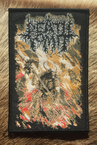 Death Vomit - Warlord King Black Border Patch
