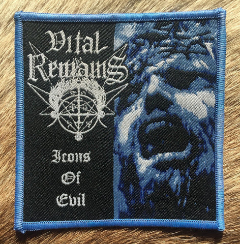 Vital Remains - Icons of Evil Blue Border Patch