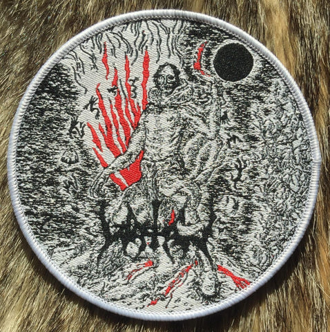 Watain - Reaping Death White Border Circular Patch