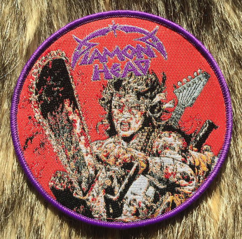 Diamond Head - 80's Mad Max Style Purple Border Circular Patch