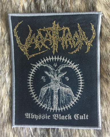 Varathron - Abyssic Black Cult Grey Border Limited Edition Patch - LAST ONE!
