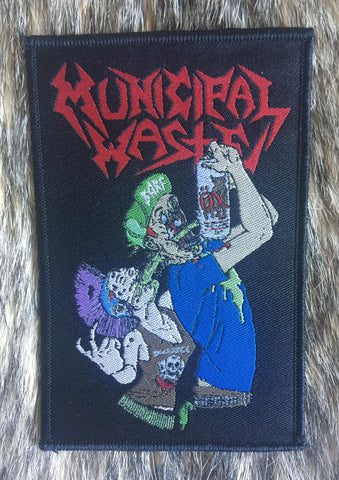 Municipal Waste - Toxic Drinker Black Border Limited Edition Patch