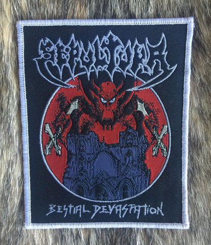 Sepultura - Bestial Devastation White Border Limited Edition Patch