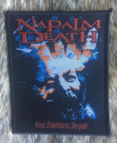 Napalm Death - Fear Emptiness Despair Black Border Limited Edition Patch