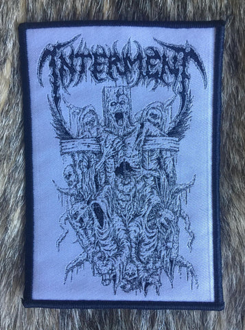 Interment - Crucifixion White Limited Edition Patch