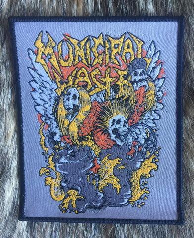Municipal Waste - Keg Skulls Toxic (Black Border) Limited Edition Patch