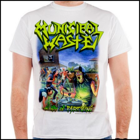 Municipal Waste – The Art Of Partying White Short Sleeved T-shirt