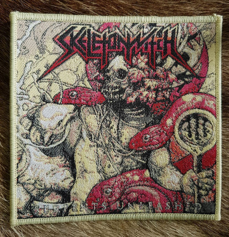 Skeletonwitch - Serpents Unleashed Cream Border Limited Edition Patch