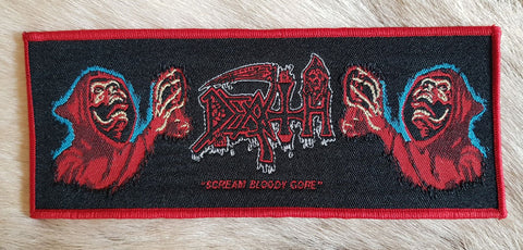 Death - Scream Bloody Gore Red Border Limited Patch