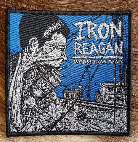 Iron Reagan - Worse than Dead Black Border Limited Patch