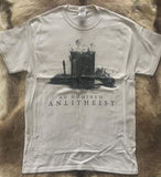 Ad Hominem - Antitheist Album Cover Short Sleeved CREAM T-shirt - REDUCED PRICE