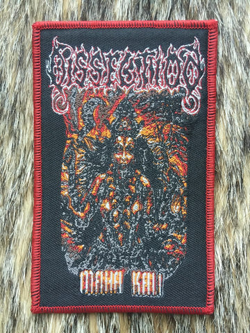 Dissection - Maha Kali Red Border Patch