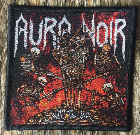Aura Noir - Out To Die Black Border Patch