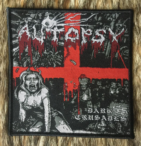 Autopsy - Dark Crusades Black Border Patch