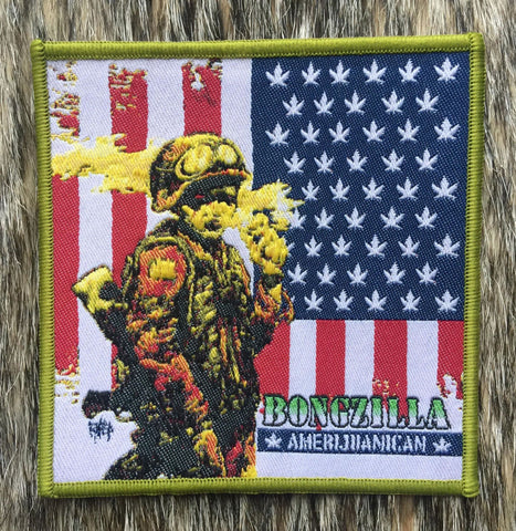 Bongzilla	- Amerijuanican Green Border Patch