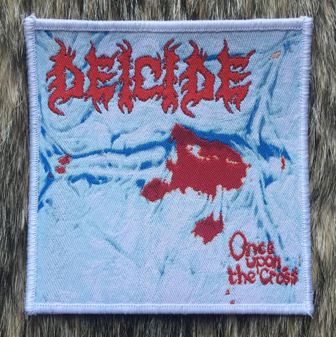 Deicide - Once Upon the Cross White Border Patch 6