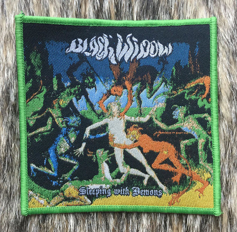 Black Widow - Sleeping With Demons Green Border Patch