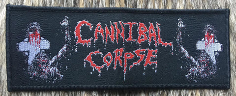 Cannibal Corpse - Zombie Logo Black Border Strip Patch