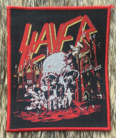 Slayer - South of Heaven Red Border Patch