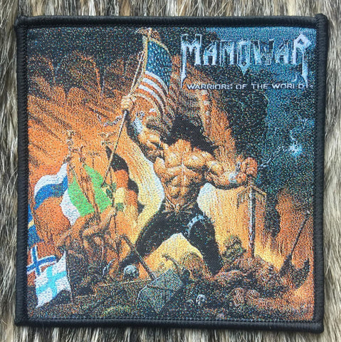 Manowar - Warriors of the World Black Border Patch