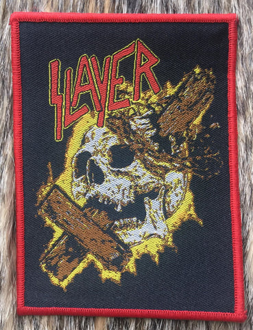Slayer - Skull & Cross Red Border Patch