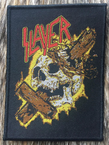 Slayer - Skull & Cross Black Border Patch