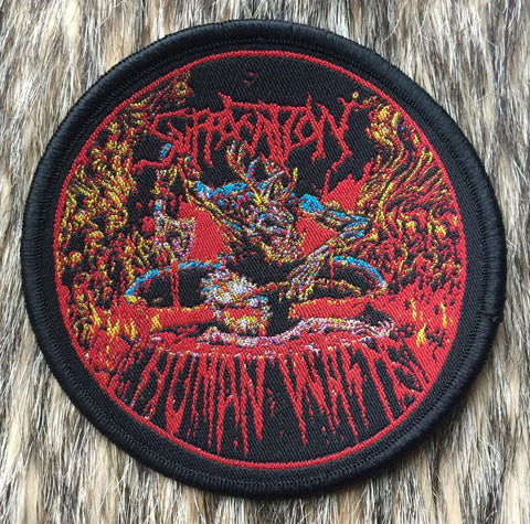 Suffocation - Human Waste Black Border Circular Patch