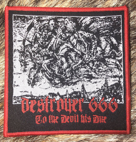 Destroyer 666 - To the Devil His Due Red Border Patch