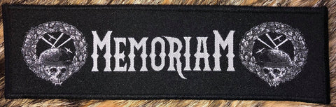 Memoriam - Logo Black Border Patch