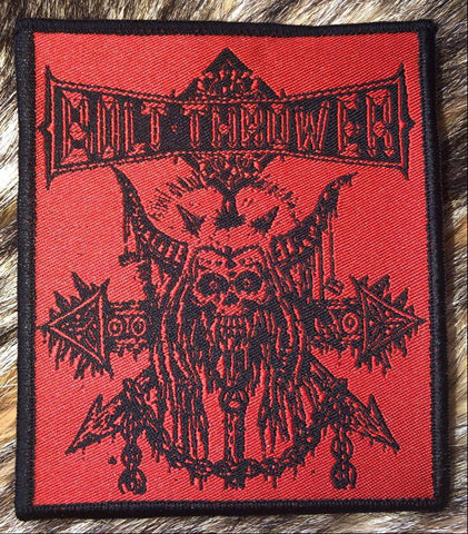 Bolt Thrower - Skull n Chain Black Border Patch