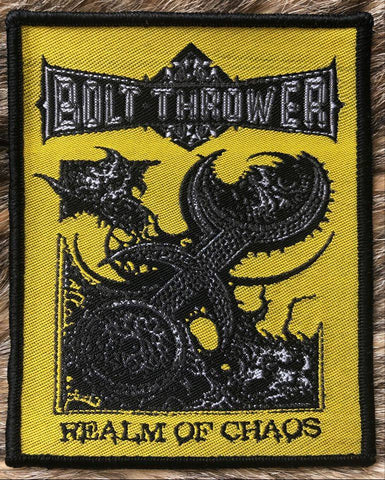 Bolt Thrower - Realm of Chaos Black Border Patch