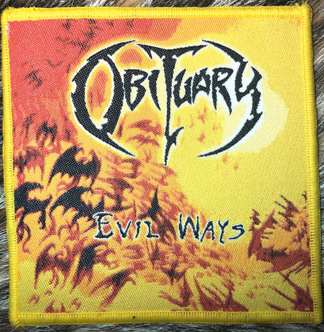Obituary - Evil Ways Yellow Border Patch