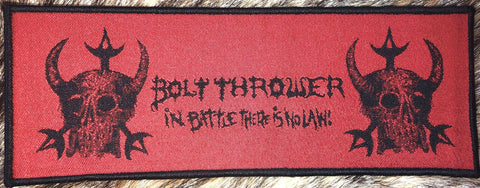 Bolt Thrower - In Battle There is No Law Black Border Patch