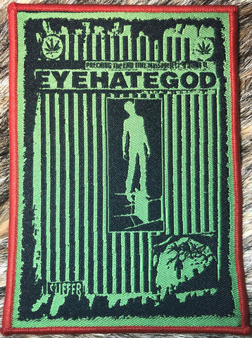 Eyehategod - Preaching the End Time Message Red Border Patch