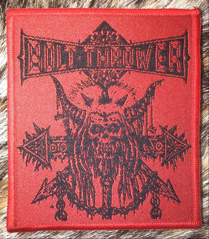 Bolt Thrower - Skull n Chain Red Border Patch