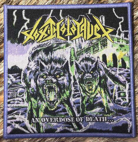 Toxic Holocaust - An Overdose of Death Purple Border Patch