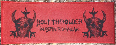 Bolt Thrower - In Battle There is No Law Red Border Patch