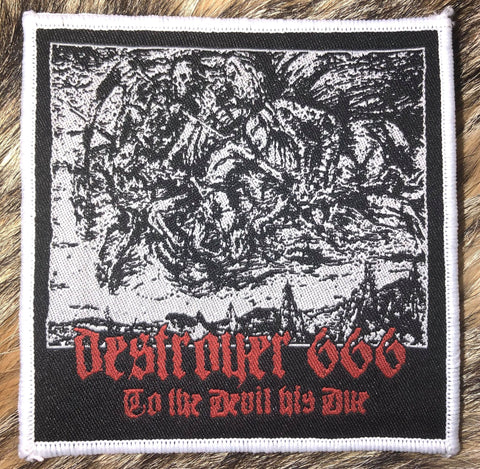 Destroyer 666 - To the Devil His Due White Border Patch