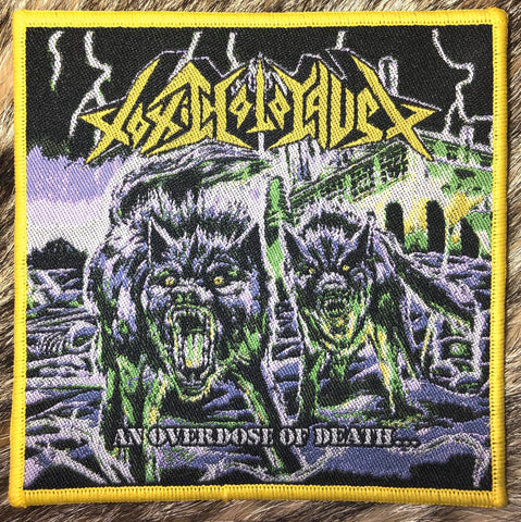 Toxic Holocaust - An Overdose of Death Yellow Border Patch