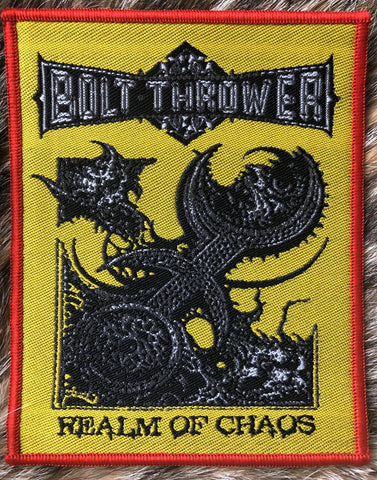 Bolt Thrower - Realm of Chaos Red Border Patch