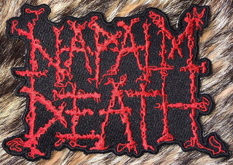 Napalm Death - Cut Out Logo Patch