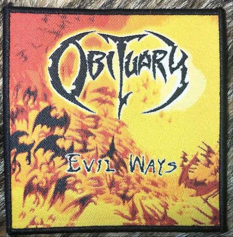 Obituary - Evil Ways Black Border Patch