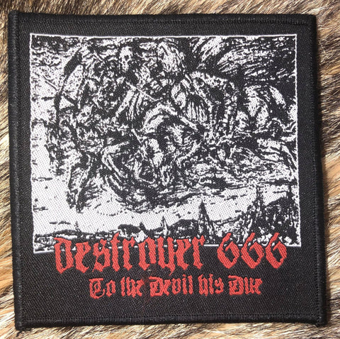 Destroyer 666 - To the Devil His Due Black Border Patch
