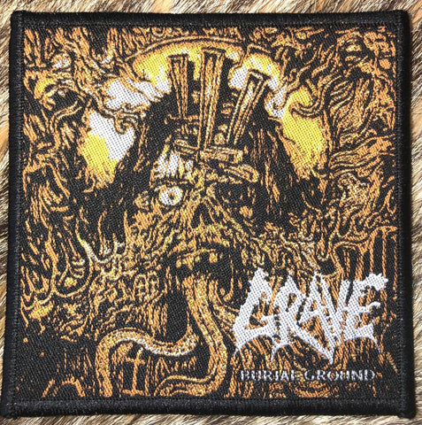 Grave - Burial Ground Black Border Patch