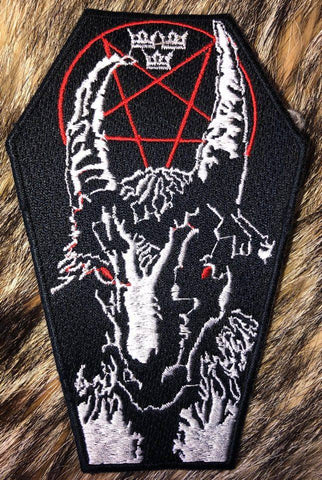 Bathory - Black Metal Goat Black Border Patch
